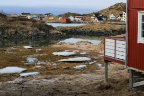 A beyond picturesque fishing village above the Arctic Circle near Tromsø, Norway.