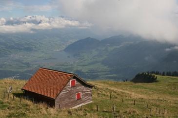 A typical Swiss Alp on Rigi Mountain.