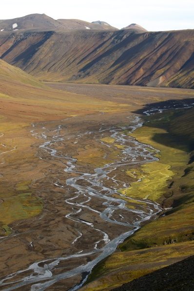 Braided river, Iceland