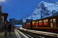 Kleine Scheidegg, Switzerland, where the train goes into the Eiger on the way up to Jungfraujoch