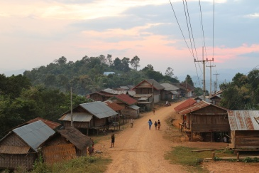 Roadside Village, Northern Laos